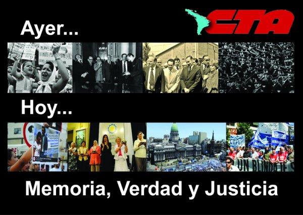 La CTA homenajea a trabajadores desaparecidos