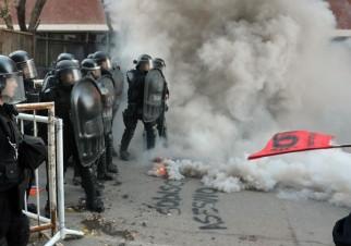 Protesta y represión por la liberación de Sobisch