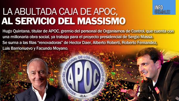 La abultada caja de APOC, al servicio del massismo