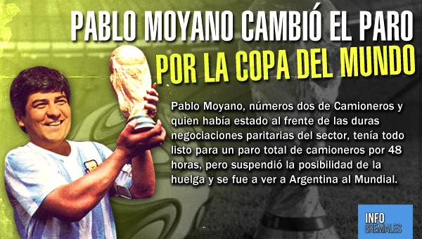 Pablo Moyano cambió el paro por la Copa del Mundo