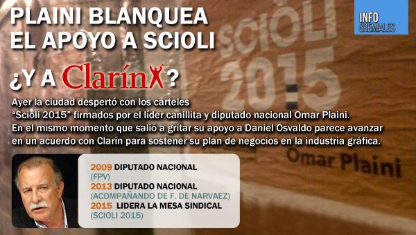 Plaini blanquea el apoyo a Scioli ¿y a Clarín?