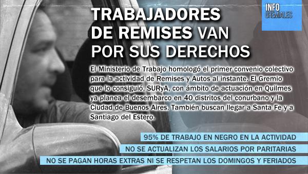 Trabajadores de Remises van por sus derechos