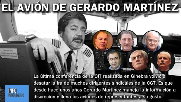 El avión de Gerardo Martinez