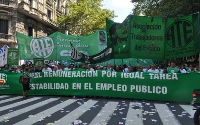 ATE movilizará por ley de salario mínimo