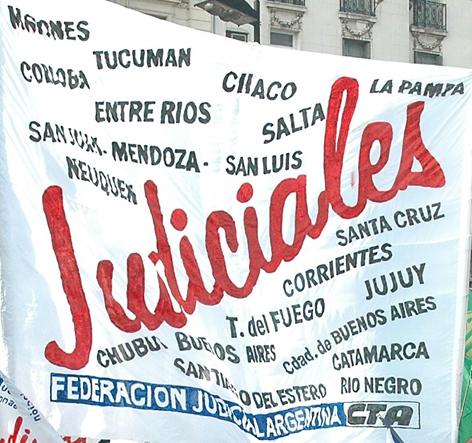 Jornada de lucha de Judiciales por paritarias