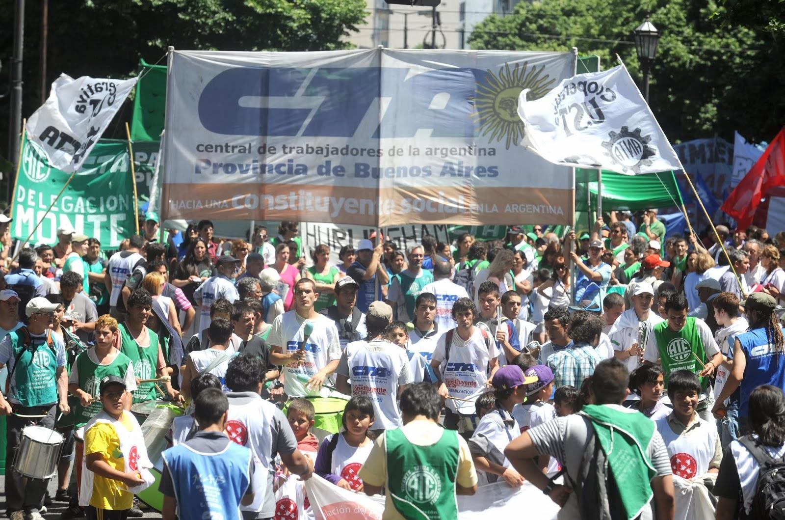 Jornada de lucha de la CTA Bonaerense