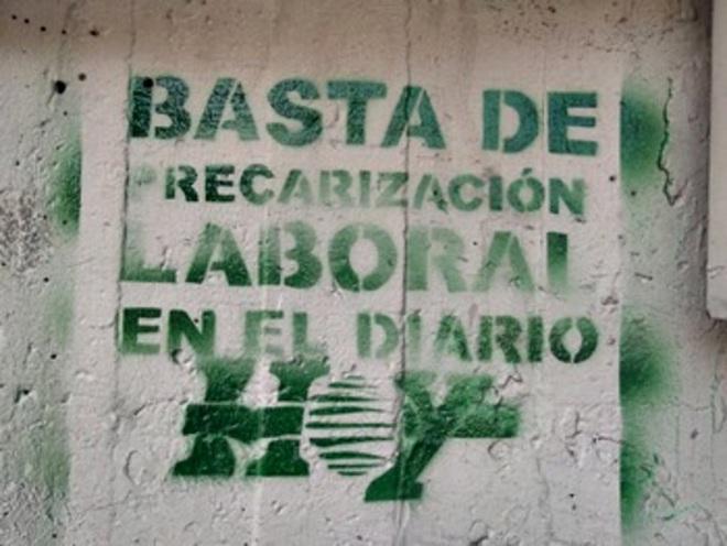 Movilización contra los despidos en Diario Hoy
