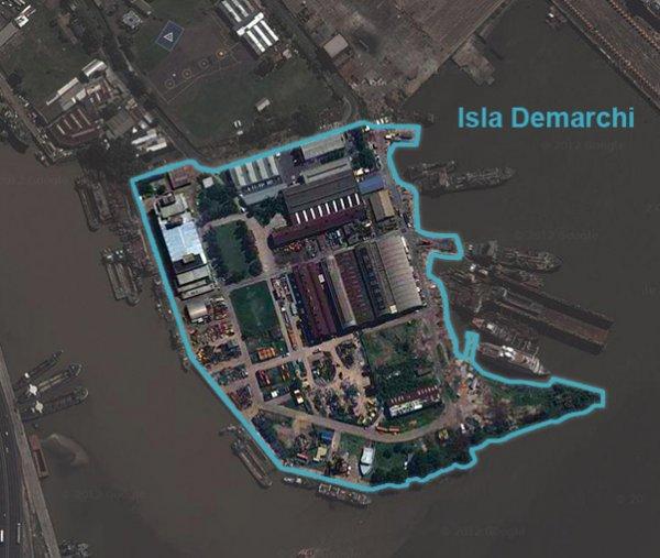 ATE movilizado por la obra en la Isla Demarchi