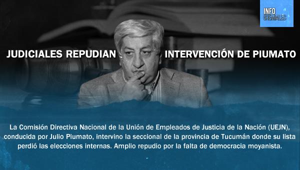 Judiciales repudian intervención de Piumato