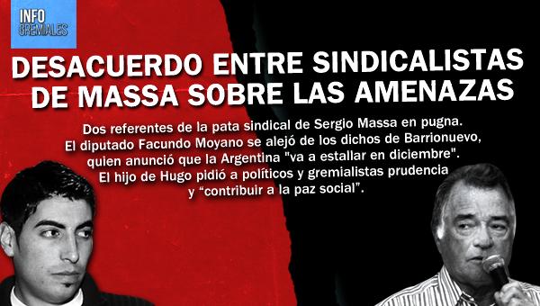 Desacuerdo entre sindicalistas de Massa