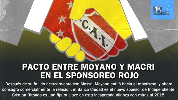 Pacto entre Moyano y Macri en el sponsoreo rojo