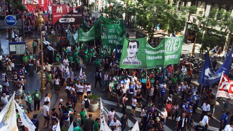 La CTA Autónoma marchó a Plaza de Mayo