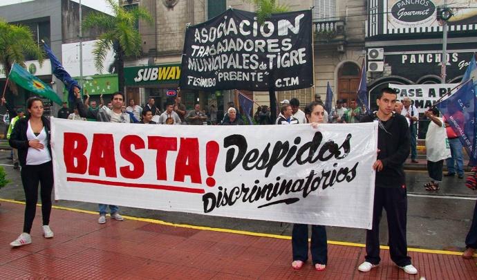 Despidos discriminatorios en el Municipio de Tigre