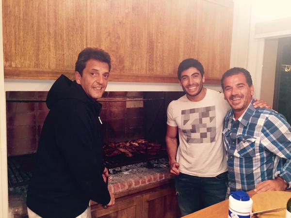Massa, Facundo y Ritondo: sugestiva foto