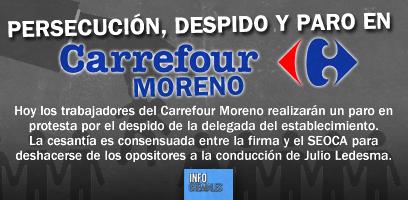 Persecución, despido y paro en Carrefour Moreno