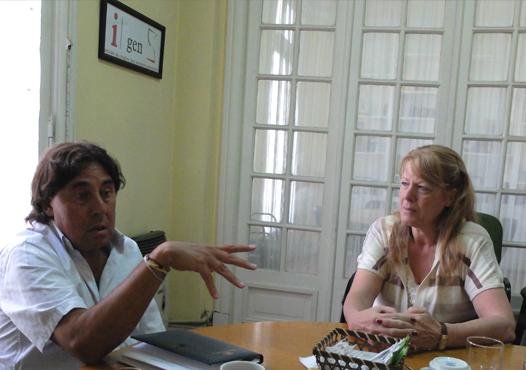 Pablo Micheli junto a Stolbizer