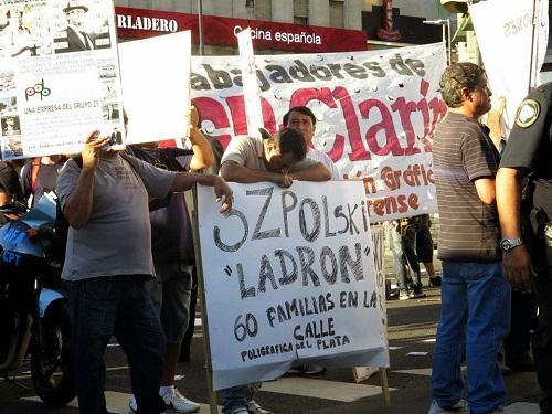 Trabajadores de Infonews apoyaron a Poligráfica del Plata