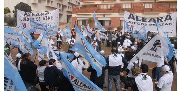 Volvieron a manifestar trabajadores de bingos porteños