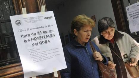ATE paralizó los hospitales porteños para exigir seguridad