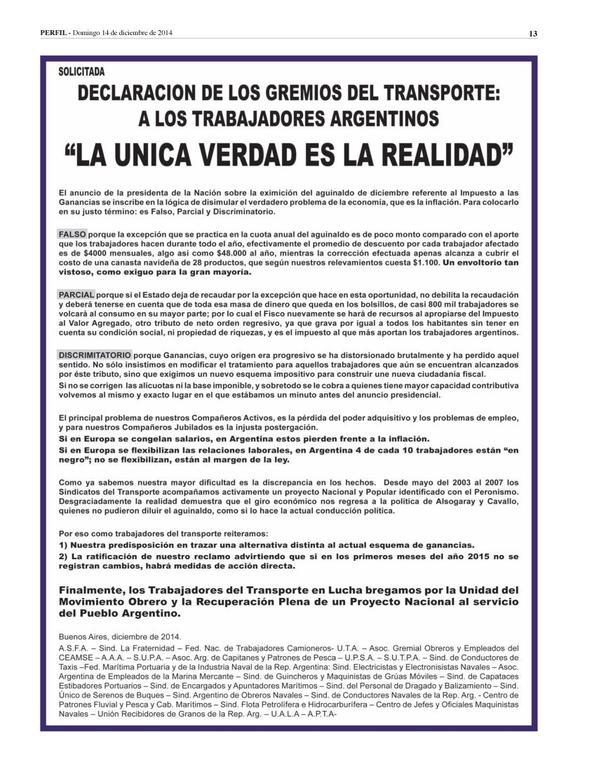 Solicitada para ver a CFK