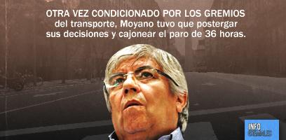 Condicionado, Moyano postergó decisiones