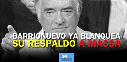 Barrionuevo blanquea su respaldo a Massa