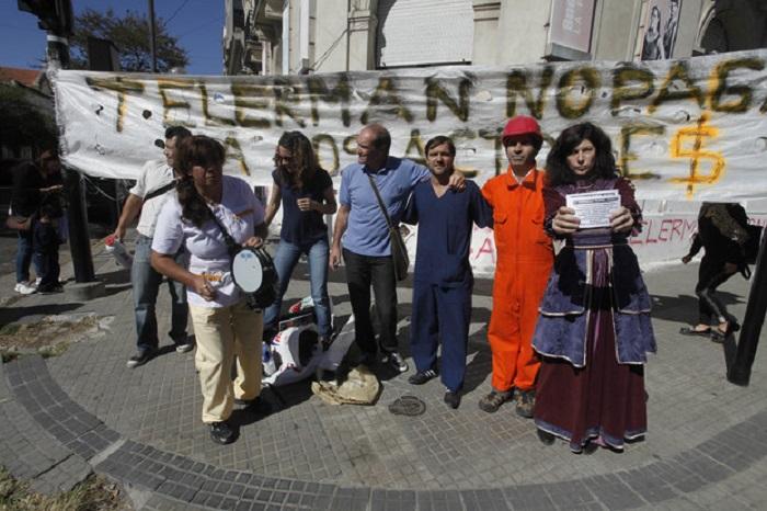 Protesta de actores bonaerenses