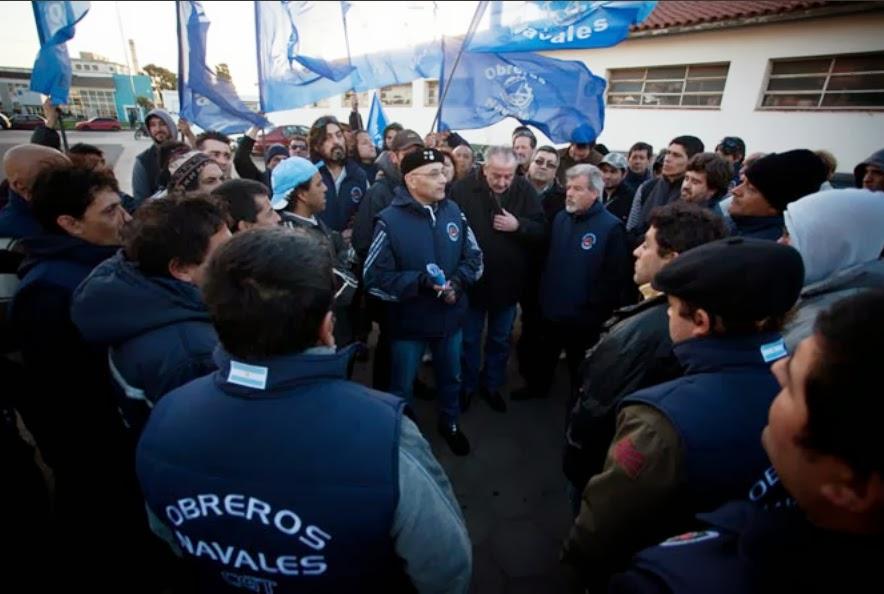 Speroni fue reelecto en el gremio de Obreros Navales