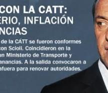 Scioli con la CATT: Ministerio, inflación y Ganancias