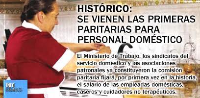 Histórico: primeras paritarias para personal doméstico