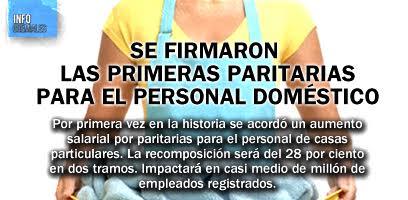 Se firmaron las primeras paritarias para el personal doméstico
