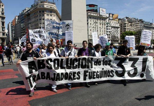 Nueva protesta contra el juicio a trabajadores fueguinos