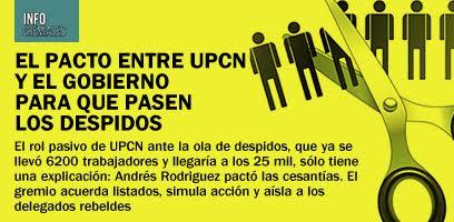 El pacto entre UPCN y el Gobierno para que pasen los despidos