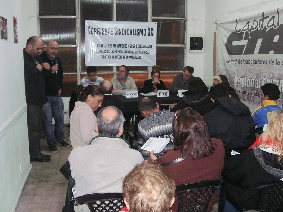 Miembros de CGT y CTA-A, en una nueva Corriente sindical SXXI