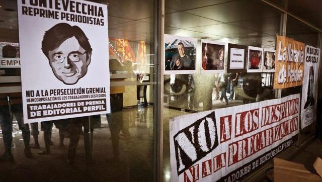 Se profundiza la protesta contra Fontevecchia en Perfil