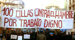 Trabajadores de la economía popular marchan de San Cayetano a Plaza de Mayo