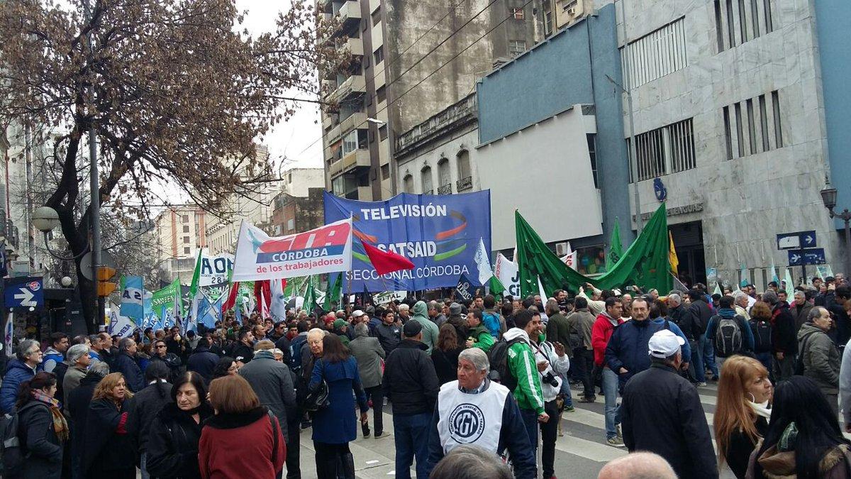 Movilizó la CGT Córdoba contra los tarifazos y la inflación