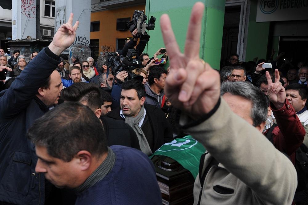 Amplio espectro sindical y la presencia de CFK, en el velorio de Ongaro
