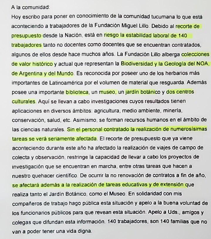 Un recorte en Educación dejaría a 140 tucumanos sin empleo