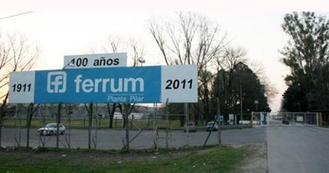 Ferrum suspenderá 500 empleados en su Planta de Pilar