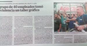 Periodistas de Clarín condenaron la cobertura del diario de la represión en AGR