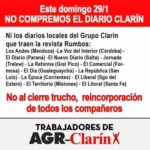 Trabajadores de AGR piden no comprar las publicaciones del multimedios
