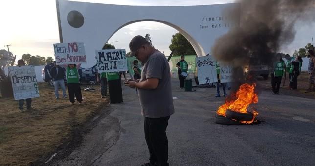 Urgente: Represión y detenidos en un repudio de ATE a Macri