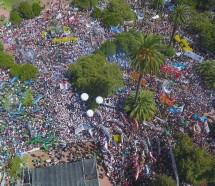 Multitudinaria marcha ratificó la magnitud del conflicto docente en tierras de Vidal