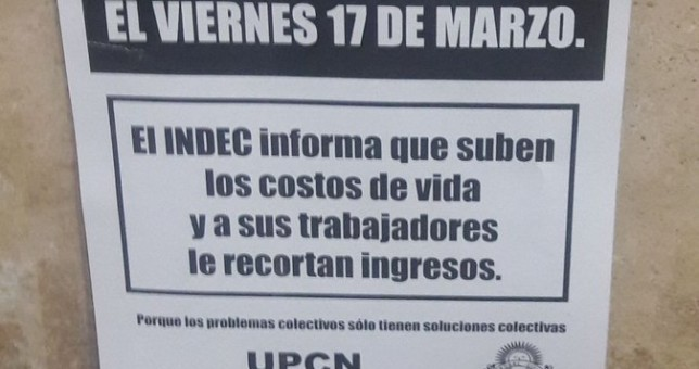 UPCN se le plantó al Indec de Macri
