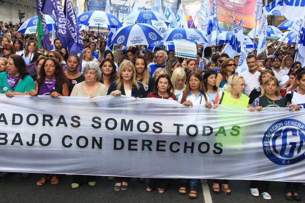 Importante presencia sindical en el #8M