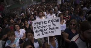 """En lugar de interpretar el reclamo, Peña culpó a los docentes por """"la fuga a la educación privada"""""""