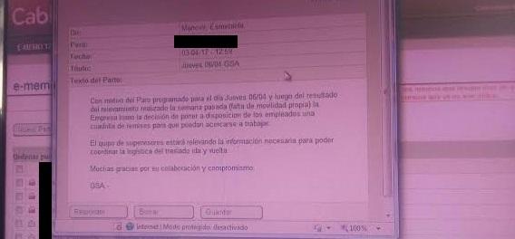 Presiones para que empleados de Cablevisión trabajen en el paro general