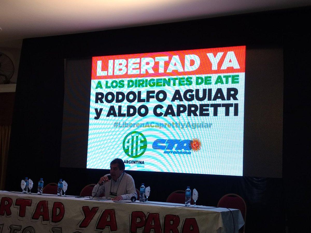 ATE resolvió un plan de lucha por paritarias y por la libertad de los dirigentes detenidos