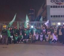 Protesta contra los despidos y las suspensiones en Colorín